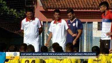 Luciano Baiano pede desligamento do Grêmio Prudente - Confira as novidades do esporte regional com Paulo Taroco.