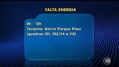 Eletrobras anuncia falta de energia em bairros de Teresina e Floriano - Eletrobras anuncia falta de energia em bairros de Teresina e Floriano
