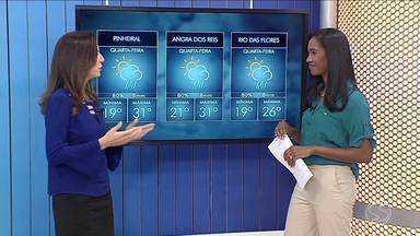 Quarta-feira será de calor no Sul do Rio - Frente fria se aproxima da região e deve deixar tempo instável.