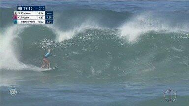 Confira as baterias desta quarta-feira no Mundial de Surfe em Saquarema, no RJ - Assista a seguir.