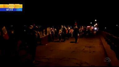 Agricultores fazem manifestação no Noroeste do RS - Assista ao vídeo.
