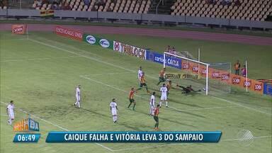 Vitória leva 3 do Sampaio Corrêa em dia de erros de Caíque pelo Nordestão - Confira as notícias do rubro-negro baiano.