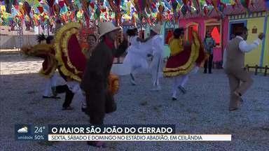 Contagem regressiva para o Maior São João do Cerrado - Redação Móvel mostra preparativos para a grande festa nordestina que começa sexta-feira (18) e vai até domingo (20) no estádio Abadião, em Ceilândia.