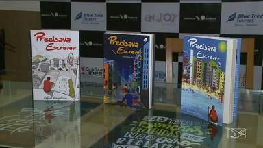 """Escritor goiano Rafael Magalhães lança livro em São Luís - Livro """"Precisava Escrever"""" faz parte de uma coletânea com crônicas que falam do cotidiano das pessoas, principalmente dos jovens."""