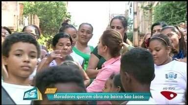 Calendário ESTV: prefeitura não cumpre promessa no bairro São Lucas, em Cachoeiro, ES - Novo prazo de entrega foi marcado.