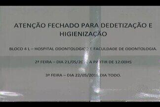 Aulas são suspensas após infestação de piolho de pombo em bloco da UFU - Algumas salas do curso de Odontologia, dois laboratórios e o Hospital Odontológico tiveram atendimento interrompido. Bloco 4L passa por limpeza.