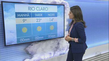 Frente fria perde força, mas manhã começa gelada na região - Confira a previsão do tempo para esta terça-feira.