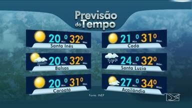 Veja as variações das temperaturas no Maranhão - Instabilidade variando com chuva em vários períodos do dia no litoral maranhense.