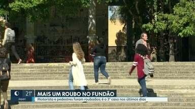 Fundão registra mais um assalto nesta terça-feira (22) - De manhã, motorista e pedestres foram roubados perto de uma unidade da Petrobras. Nos últimos 4 dias foram pelo menos 3 assaltos dentro da Cidade Universitária.
