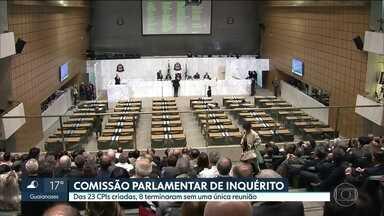 Das 23 CPIs criadas nos últimos 3 anos, 8 terminaram sem uma única reunião - Assembléia Legislativa de São Paulo informou que todas as CPIs são independentes, e que cabe a cada presidente de CPI a responsabilidade pela condução dos trabalhos