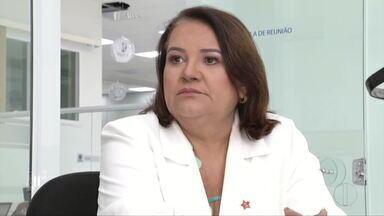 Lene Teixeira é entrevistada pelo MG Inter TV 1ª Edição - Candidata do PT na eleição suplementar disse que está disposta a se aproximar da oposição para uma administração democrática; nesta quarta (23), o entrevistado será Daniel Cristiano (PCB).