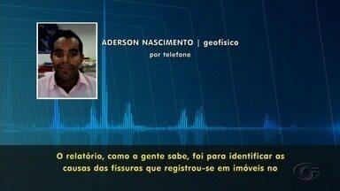 Resultado dos estudos realizados por causa das rachaduras no solo do Pinheiro é concluído - Laudo não aponta corpo estranho no solo do bairro.