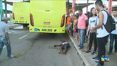 Homem é atropelado por ônibus no Terminal de Integração em São Luís - Atropelamento aconteceu na manhã desta sexta-feira (25), na capital.