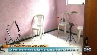 Escola de música que atende crianças carentes é furtada em Aparecida de Goiânia - Criminosos levaram todos os instrumentos musicais e deixaram crianças tristes nesta segunda-feira.