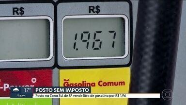 Posto da Zona Sul de SP vende litro da gasolina por R$ 1,96 - O preço é um protesto contra a alta carga tributária no país.