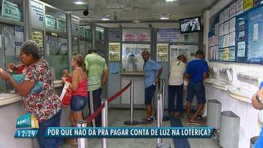 Coelba suspende pagamento de conta de luz em casas lotéricas e surpreende consumidores - Muita gente reclamou da mudança, que entrou em vigor no início deste mês.