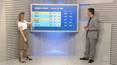 Confira a previsão do tempo para esta terça-feira - Veja como ficam as temperaturas na região de Presidente Prudente.