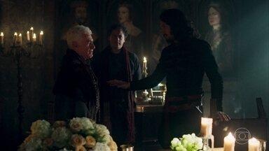 Afonso afirma que não casará com Catarina - O rei de Alfambres diz que a união dos dois tornará Lastrilha e Artena um reino só e muito forte