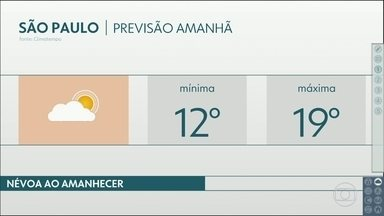 Sexta-feira será gelada e sem chuva na Grande São Paulo - Domingo pode ter calor de tarde. Entenda por que vendo a previsão do tempo.
