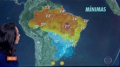 Frio aumenta na região Sul do país - No Nordeste, a previsão é de chuva na costa de Fortaleza e parte da Bahia. Confira como fica o tempo no final de semana.