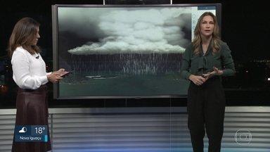 Anne Lottermann explica como estava o tempo na hora da tragédia de Itaguaí - Sistema de baixa pressão e passagem de frente fria provocaram uma grande tempestade na região. Ressaca pode prejudicar o trabalho de buscas nesse Sábado (09).
