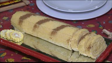 Veja como fazer receita de rocambole de milho no Chef JPB - Passo a passo de receita tradicional de rocambole recebe toque diferenciado com recheio doce de milho.