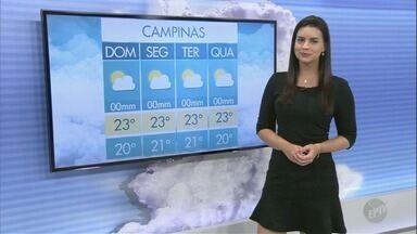 Veja a previsão do tempo para este domingo na região de Campinas - Temperatura mínima prevista é de 16º C.