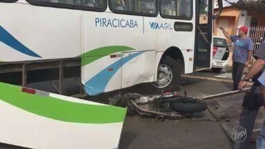 Motociclista morre após colisão com ônibus em avenida de Piracicaba - Acidente ocorreu no Jardim Ipanema.