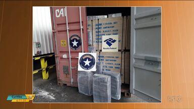 Receita Federal apreende 390 kg de cocaína no Porto de Paranaguá - A droga foi encaminhada para a Polícia Federal.