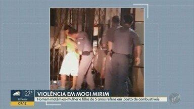Homem faz a mulher e o filho de cinco anos refém em Mogi Mirim - Eles ficaram reféns em um posto de combustíveis.