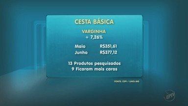 Funcionário que recebe salário mínimo precisa trabalhar 10 dias para comprar cesta básica - Funcionário que recebe salário mínimo precisa trabalhar 10 dias para comprar cesta básica em Varginha (MG)
