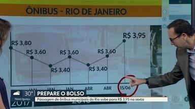 As passagens de ônibus do Rio aumentam na próxima sexta-feira - Em entrevista exclusiva ao repórter Edimilson Ávila, o prefeito do Rio, Marcelo Crivella anunciou que a nova tarifa de ônibus, de R$ 3,95, entra em vigor na próxima sexta-feira, dia 15 de junho.
