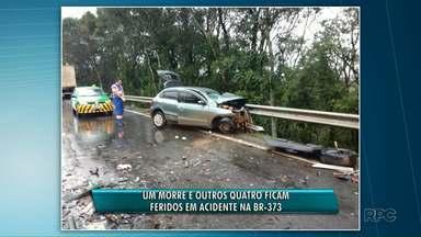 Acidente na BR-373 deixa uma pessoa morta - O acidente aconteceu entre Guamiranga e Prudentópolis.
