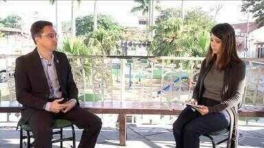 RJTV entrevista prefeito de Pinheiral - parte II - Cidade completa 23 anos nesta quarta-feira (13). Prefeito Ednardo Barbosa fala sobre problemas e desafios da cidade.