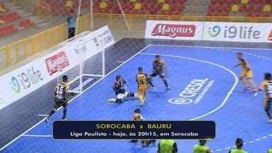 Embalado por vitória, Sorocaba enfrenta o Bauru pela Liga Paulista de Futsal - Partida será nesta quarta-feira, às 20h15, na Arena Sorocaba.