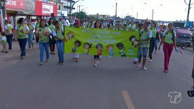 Caminhada marca o dia do enfrentamento ao trabalho infantil em Santarém - Atividades acontecem na terça (12) e quinta (14). Objetivo é conscientizar a população sobre a importância de denunciar crimes envolvendo crianças e adolescentes.