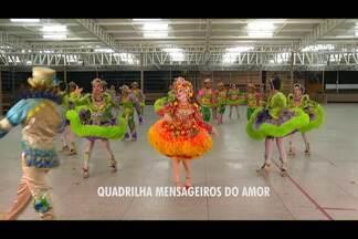 Apresentação da quadrilha 'Mensageiros do Amor' - A quadrilha participa do concurso do É do Pará.