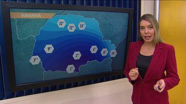 A quinta-feira (14) deve ser fria em todo o estado - Chove em poucas áreas do Paraná, e as temperaturas caem.