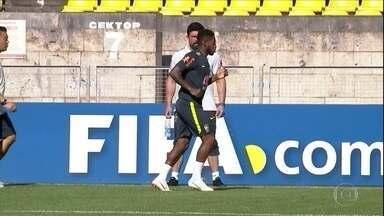 Seleção brasileira faz treino antes da estreia da Copa da Rússia - Brasil joga contra a Suíça no domingo.
