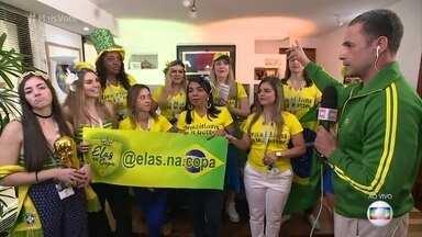 Grupo de Mulheres se une para assistir à Copa na Rússia - Mulherada se conheceu pela internet e combinou de torcer junto pelo hexa do Brasil