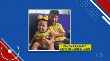 #NE1NaCopa: telespectadores enviam fotos no clima do mundial de futebol - É possível enviar as imagens para o WhatsApp da TV Globo.