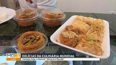 Festival 'Minas é o Mundo' vai movimentar Belo Horizonte até sábado - Esta é a primeira edição do evento que reúne delícias da culinária mundial.