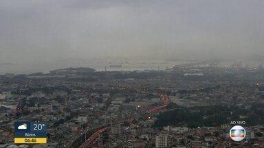 Previsão é de chuva para o Rio de Janeiro nesta quinta-feira (14) - Uma frente fria traz chuva para o Rio de Janeiro. A temperatura máxima prevista para a Região Metropolitana é de 24ºC.