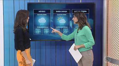 Frente fria estaciona no Sul do Rio - Quinta-feira será de céu fechado e chuva.