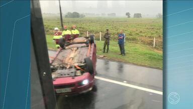 Via Dutra tem três acidentes durante manhã chuvosa no trecho do Sul do Rio - Congestionamentos tumultuaram a vida dos motoristas.