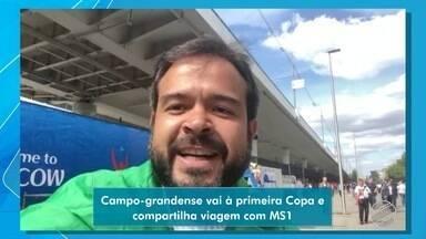 Campo-grandense realiza sonho e acompanha jogos da Copa do Mundo na Rússia - Juliano mandou um vídeo para o MSTV diretamente da Rússia.