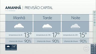 A sexta-feira deve ser gelada na Capital - Máxima não deve passar dos 17 graus
