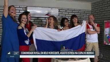 Russos acompanham estreia de seleção na Copa e vibram com vitória - Rússia, sede da Copa, goleou a Arábia Saudita por 5 a 0