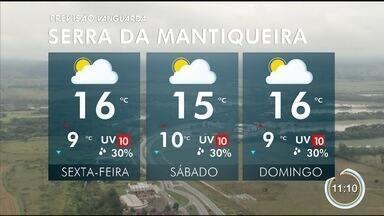 Fim de semana deve ficar nublado na região - Dias ficam mais frios no Vale.