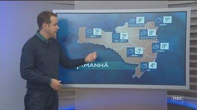 Veja como ficará o tempo em todas as regiões de SC neste sábado (16) - Veja como ficará o tempo em todas as regiões de SC neste sábado (16)